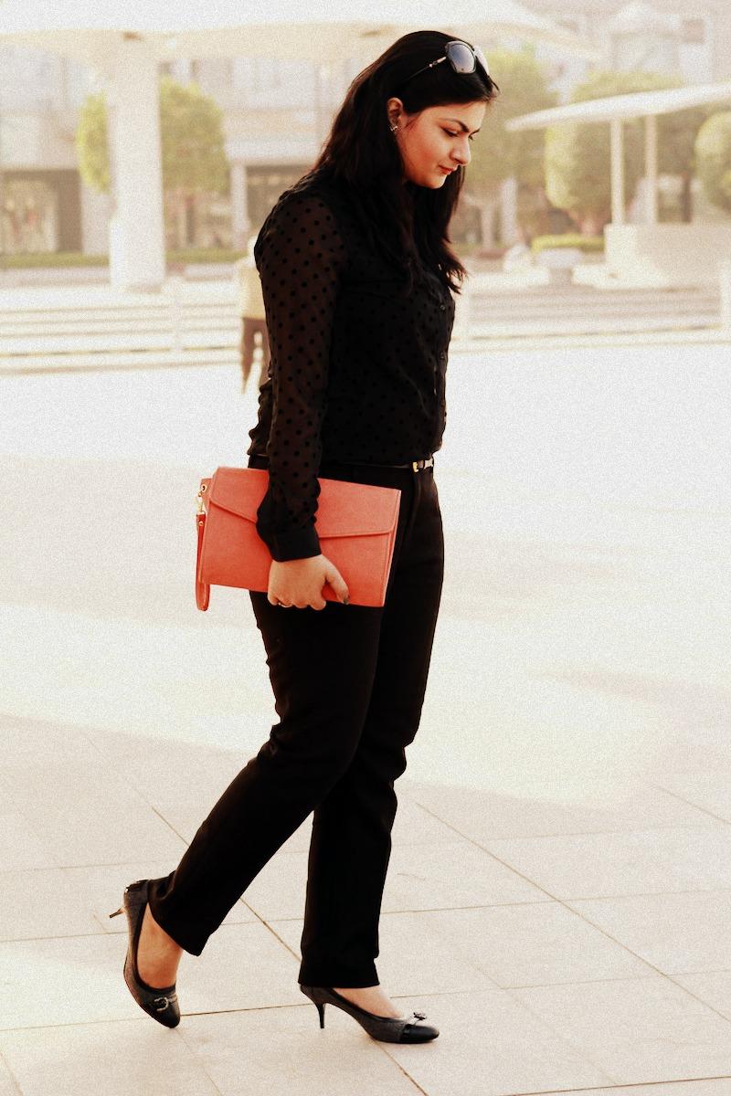 Accessorize orange clutch
