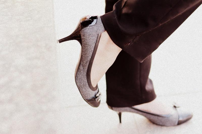 Ninewest Black Grey Heels