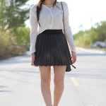 gray-pleated-skirt