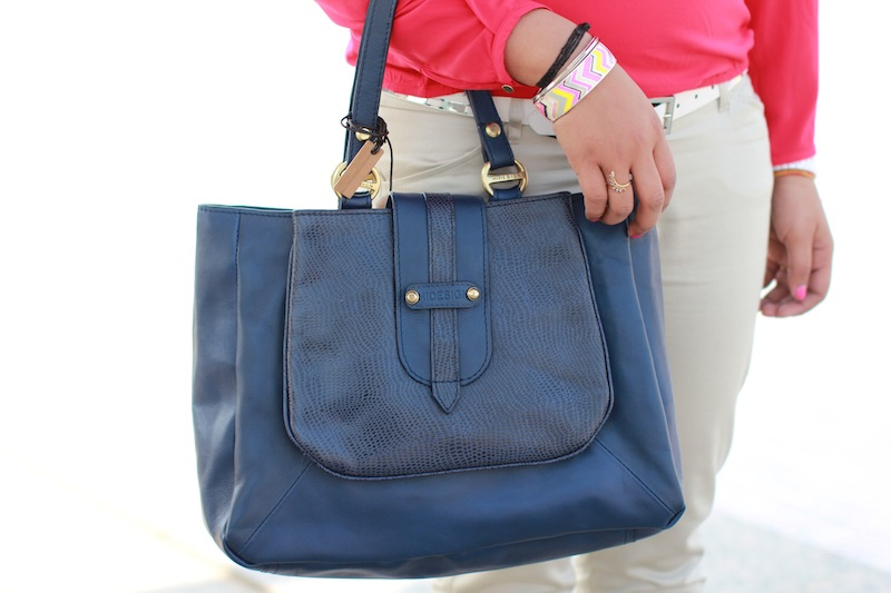 hidesign blue bag
