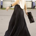 long-black-pleated-skirt