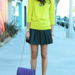 neon-pleated-skirt