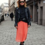 orange-pleated-skirt