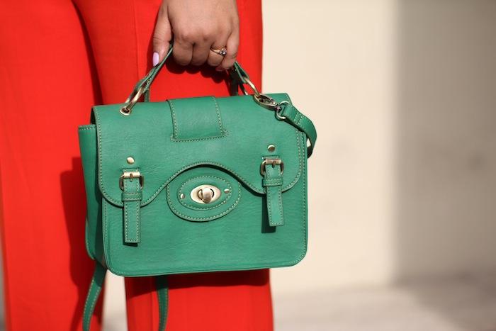 promod green satchel