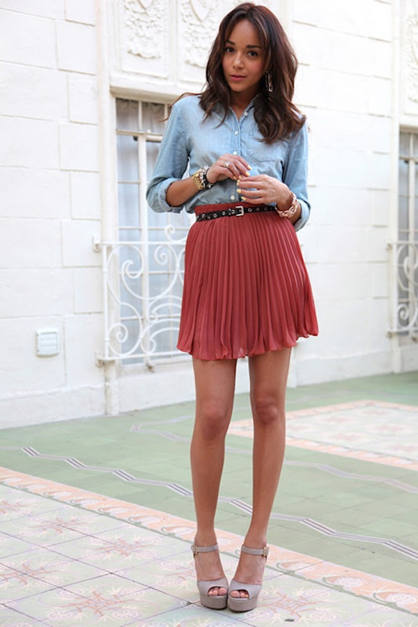 brown pleated skirt faux pasfaux pas