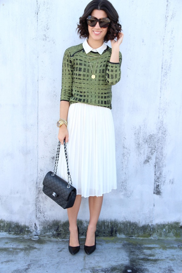 white1 pleated skirt faux pasfaux pas