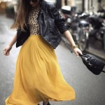 yellow-pleated-skirt