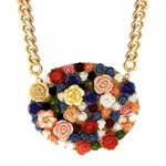 asos fimo flower necklace