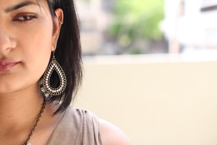 forever21 studded earrings