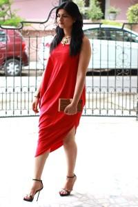james ferreira red toga dress