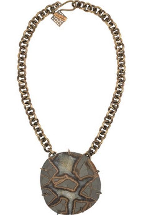 wearstler gold tone mineral necklace faux pasfaux pas