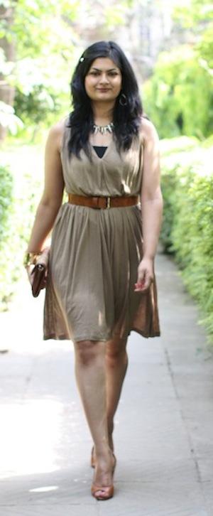 mango belted dress