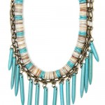 mango turquoise spikes necklace