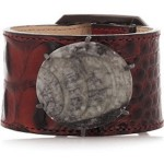 kelley wearstler leather fossil bracelet