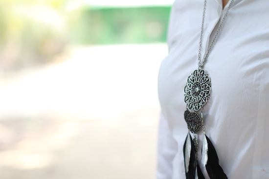 mango dream catcher necklace