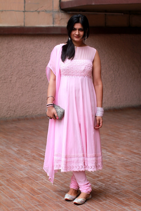 pink indian wedding outfit
