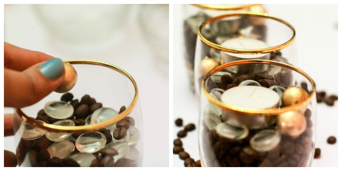 DIY coffee bean candles
