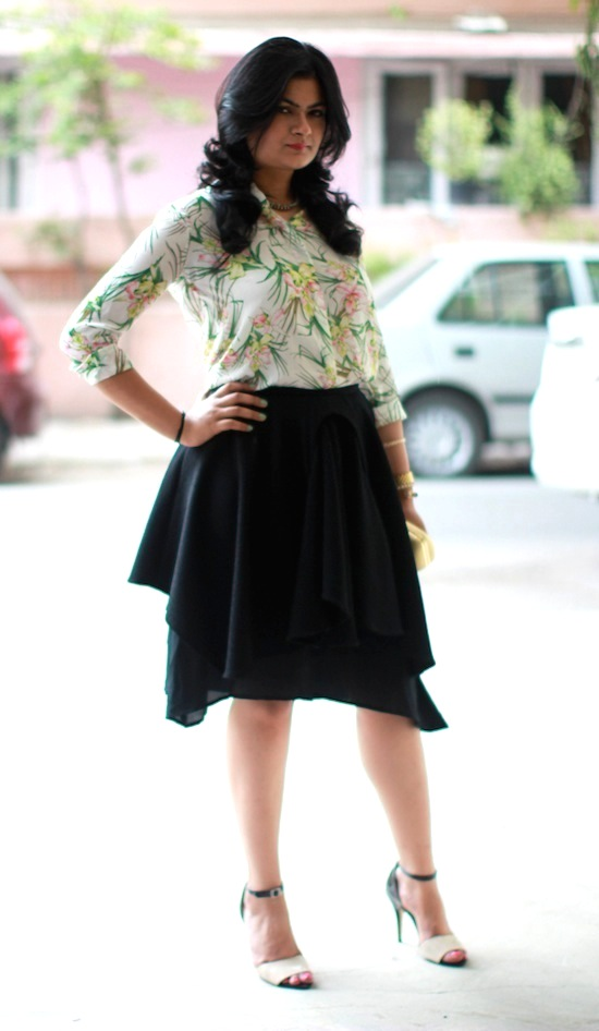black skirt by varun bahl