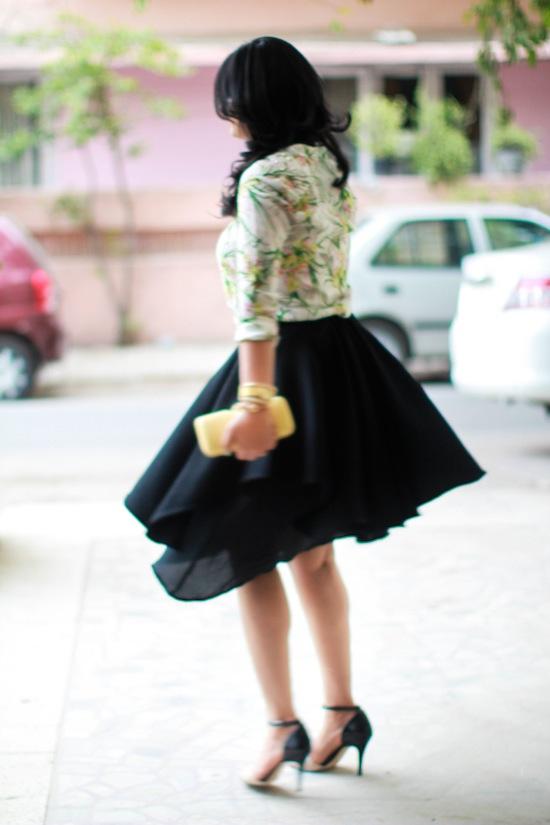 zara floral studded shirt
