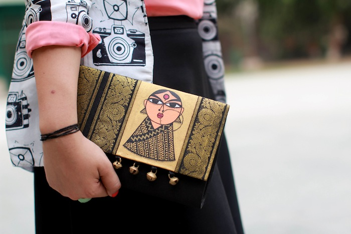 art meets fashion clutch