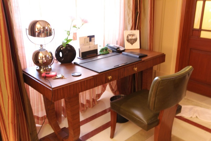 The writing desk in our room