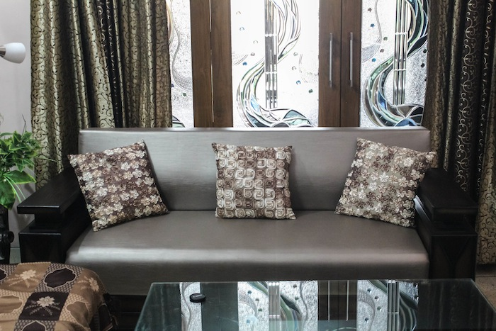 brown beige sofa