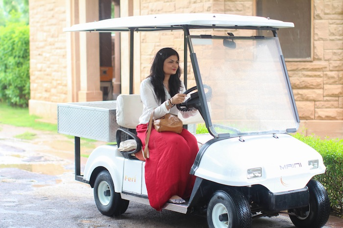 golf cart Umaid Bhawan Palace : Day 2