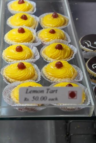 The yummy lemon tarts