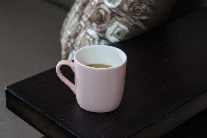 pastel pink tea cup