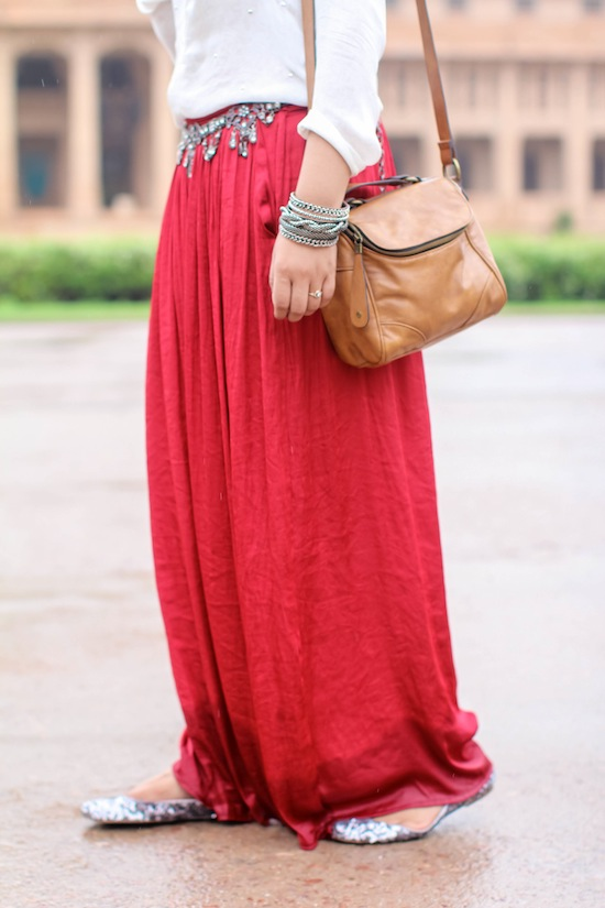 red maxi skirt Umaid Bhawan Palace : Day 2