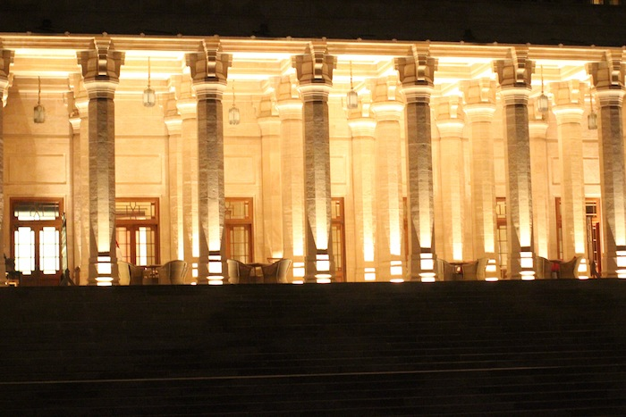 Umaid Bhawan at night