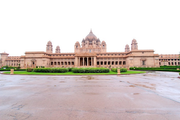 Umaid Bhawan Palace from outside