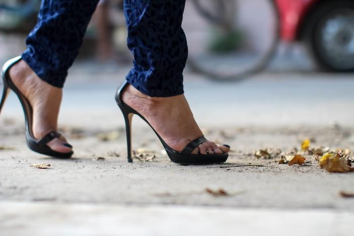 zara black high heels