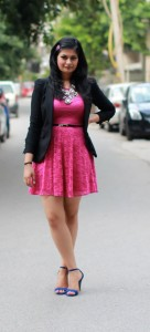 asos hot pink dress