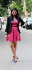 asos hot pink dress