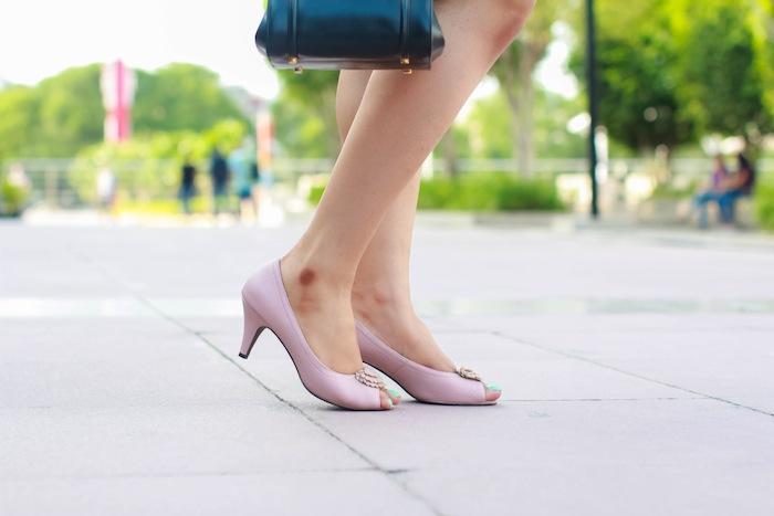 tresmode pastel pink shoes