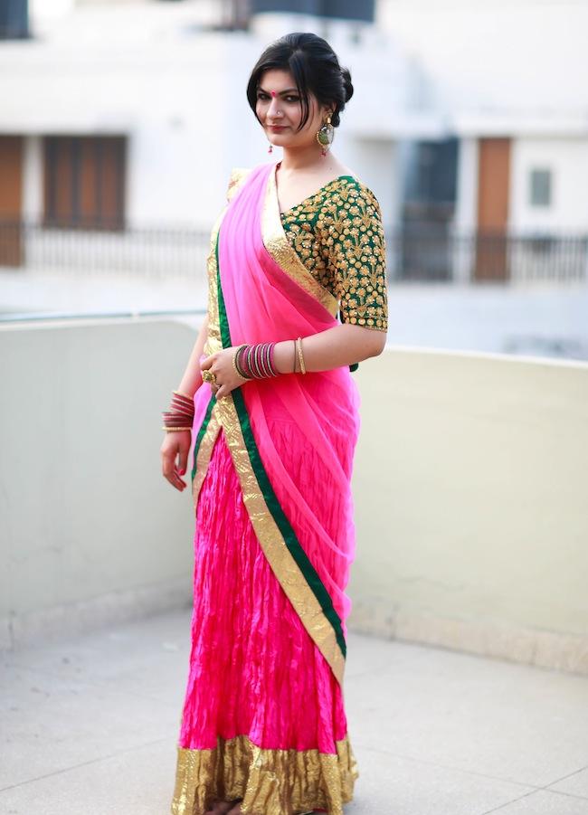 masaba pink lehenga look