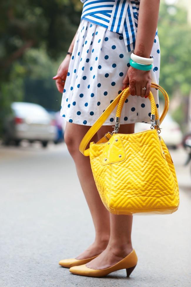 steve madden yellow bag