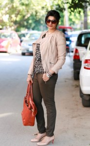 earthy toned outfit