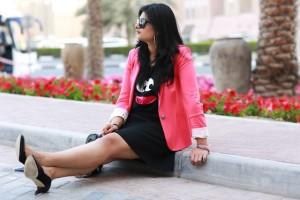 pink blazer fashion