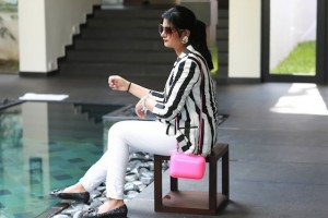 striped blazer fashion