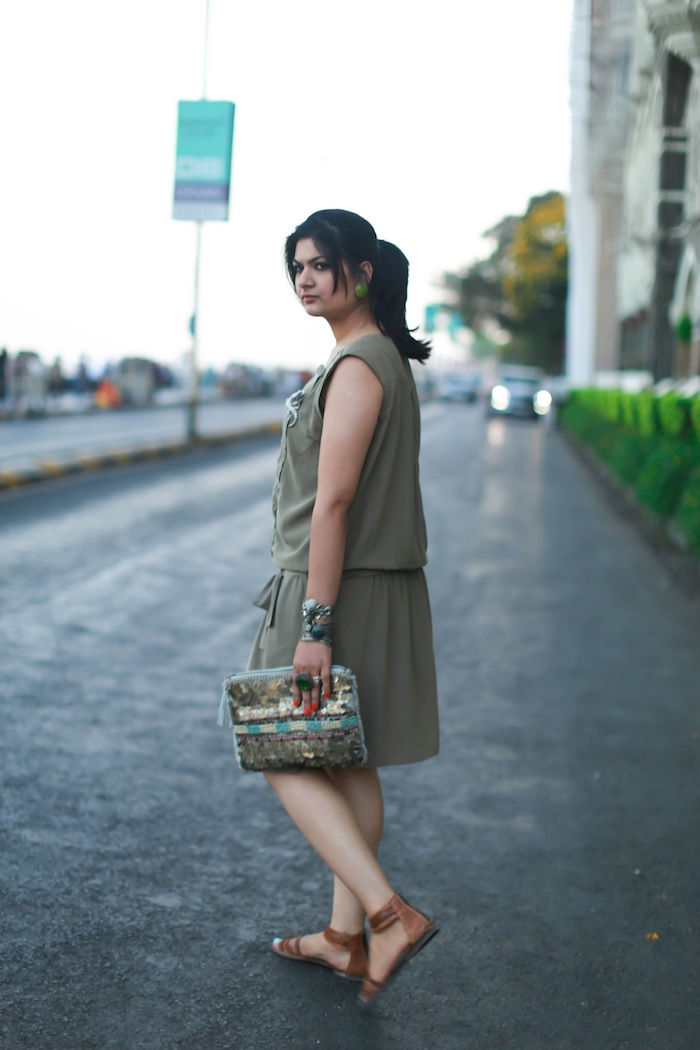 military green brown fashion