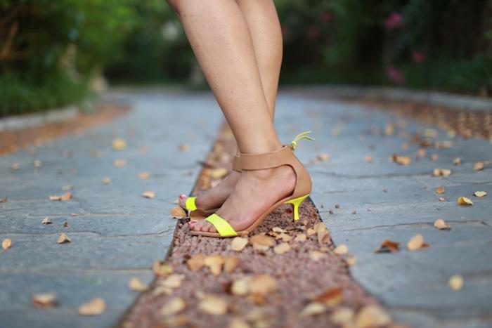 neon green heels