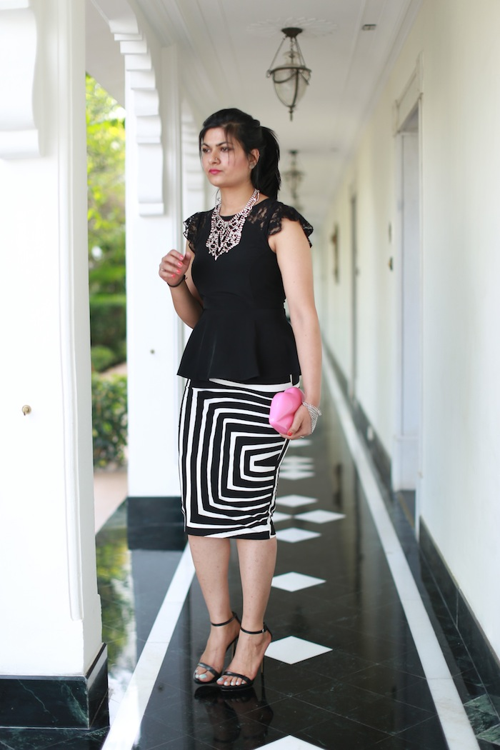 white-striped-skirt-peplum-top