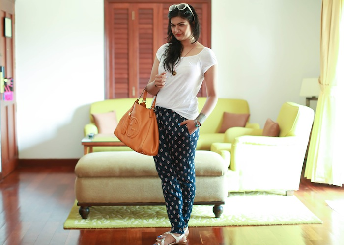 printed pants fashion