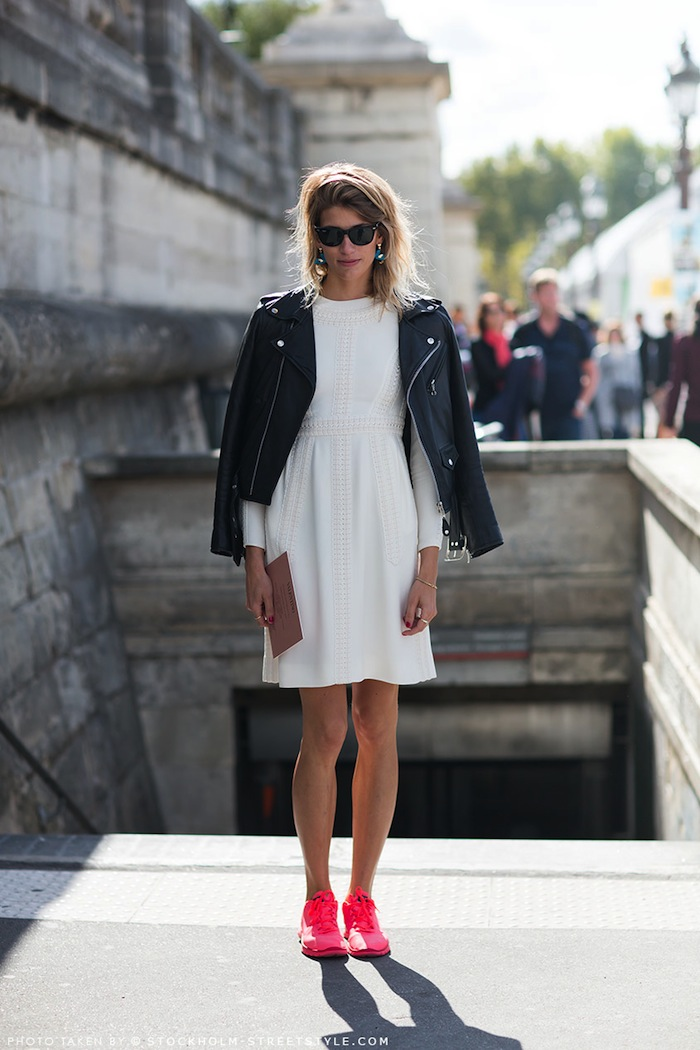 How to style black white outfit