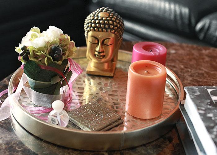 coffee table buddha