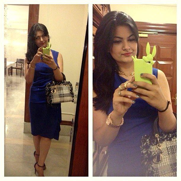 joseph royal blue dress