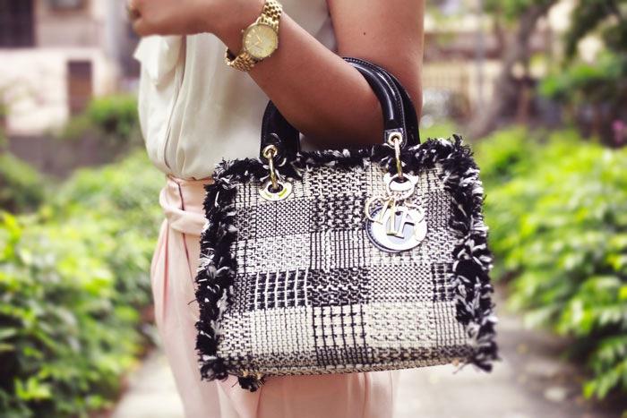 lady dior tweed bag