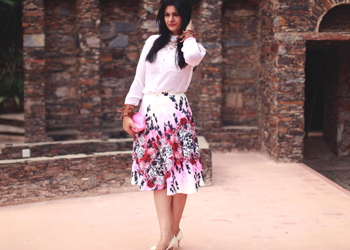 floral skirt fashion